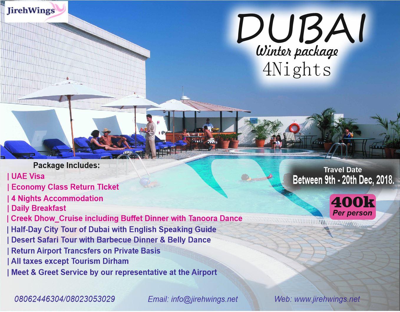 Dubai Winter Special – Jireh Travels & Tours Ltd